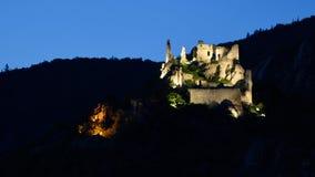 Durnstein-Schloss, Wachau, Österreich Lizenzfreie Stockbilder
