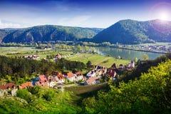 Durnstein Wachau dal _ Fotografering för Bildbyråer