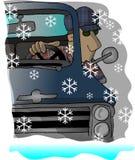 Duro conduza para casa ilustração stock