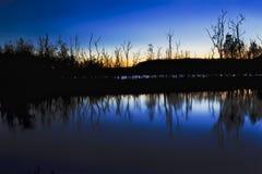 Durras Lake Blue Set Royalty Free Stock Images