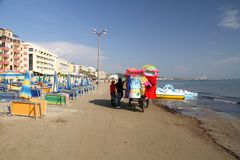 Durres Albanië stock afbeeldingen