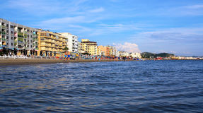 DURRES. ALBANIA. DURRES - JUNE 17, 2017: Adriatic coast on a sunny summer day. Durres is a popular seaside resort in Albania Stock Photos