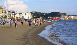 DURRES. ALBANIA. DURRES - JUNE 17, 2017: Adriatic coast on a sunny summer day. Durres is a popular seaside resort in Albania Stock Photography