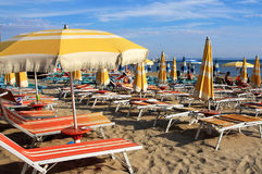 DURRES. ALBANIA. DURRES - JUNE 17, 2017: Adriatic coast on a sunny summer day. Durres is a popular seaside resort in Albania Stock Photo