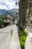 Durro, typical stone village in the Catalan Pyrenees. valley of Stock Photo