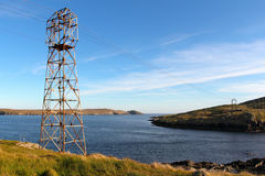 Dursey island old cable car Stock Image