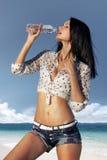 Durst am heißen Tag lizenzfreies stockbild