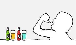 Durstig Stockbild