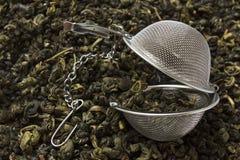 durszlak herbata Obrazy Royalty Free