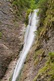 Duruitoarea瀑布(1210年m), Ceahlau断层块 免版税库存图片