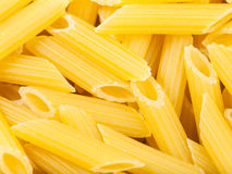 Durum wheat semolina pasta penne rigate close up Stock Image