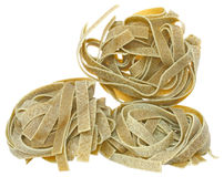 Durum wheat semolina pasta with spinach close up Royalty Free Stock Image