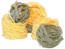 Durum wheat semolina pasta with spinach Royalty Free Stock Photos