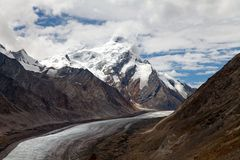 Durung Drung Glacier near Pensi La pass on Zanskar road - Great Himalayan range - Zanskar - Ladakh - India Stock Photography
