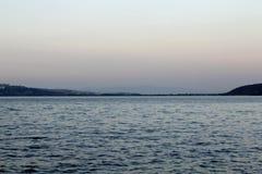 Durusumeer Turkije - zonsondergang royalty-vrije stock foto's