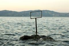 Durusumeer Turkije - zonsondergang royalty-vrije stock afbeeldingen