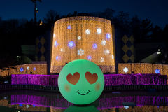 Duryu Park Starry Night Illuminations night in Daegu South Korea Stock Photo