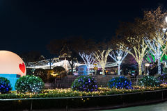 Duryu Park Starry Night Illuminations night in Daegu South Korea Stock Image