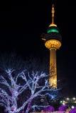 Duryu Park Tower Starry Night Illuminations night in Daegu South Korea Royalty Free Stock Photo