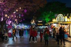 Duryu Park Tower Starry Night Illuminations night in Daegu South Korea Royalty Free Stock Image