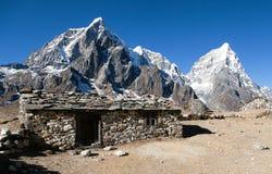Dusadorp, typisch Nepalees steenachtig chalet royalty-vrije stock foto