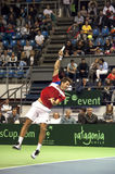 Dusan Lajovic serving a ball-1 Stock Images