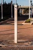 Dusch på Virginia Beach Oceanfront Boardwalk arkivbild