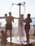Dusch vid havet Royaltyfria Bilder