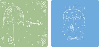 Dusche-Einladungen Stockbilder