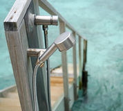 Dusche im Freien Stockfotografie