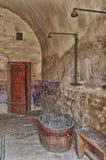 Dusche in Terezin Stockbilder