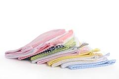Duschehandschuhstapel.   stockbilder