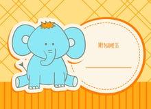Duschkort med elefanten Royaltyfri Bild