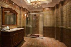 Duschrummet Arkivfoto