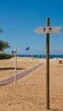 Duschzeichen auf dem Strand Lizenzfreie Stockfotos