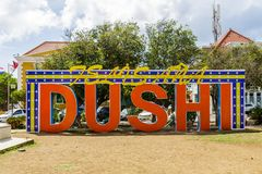 Dushi Sign in Curacao at New Years Royalty Free Stock Photos