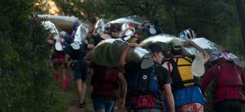 Dusi czółna maraton Południowa Afryka Obrazy Stock