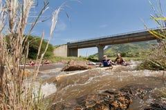 Dusi czółna maraton Południowa Afryka Obraz Stock