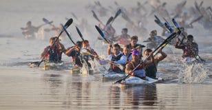 Dusi czółna maraton Południowa Afryka Zdjęcia Stock
