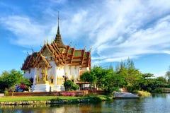 Dusit玛哈Prasat在古老泰国 免版税库存图片