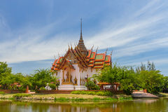 The Dusit Maha Prasat. In the Ancient Siam, Thailand Stock Photo
