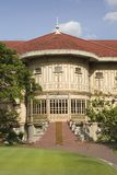 Dusit Palace. Vimanmek - Dusit Palace. The word's largest golden teakwood mansion. Royal palace in Bangkok Royalty Free Stock Photo