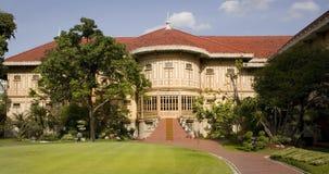 Dusit Palace. Vimanmek - Dusit Palace. The word's largest golden teakwood mansion. Royal palace in Bangkok Royalty Free Stock Image