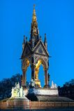 dusk Αγγλία Λονδίνο αναμνηστ& Στοκ Φωτογραφία
