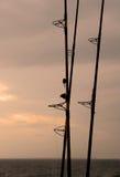 dusk αλιεία Στοκ φωτογραφία με δικαίωμα ελεύθερης χρήσης