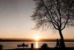 dusk Βανκούβερ Στοκ Φωτογραφίες