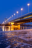 dusk Βιέννη Δούναβη στοκ εικόνες