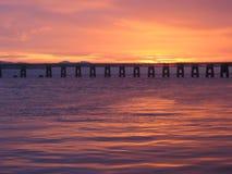 dusk γεφυρών ράγα tay στοκ φωτογραφία με δικαίωμα ελεύθερης χρήσης
