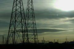 dusk ηλεκτρικό Στοκ φωτογραφία με δικαίωμα ελεύθερης χρήσης