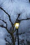 dusk η οδός λαμπτήρων στοκ φωτογραφίες